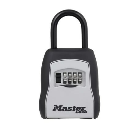 Own Combination Luggage Lock (Master Lock 5400D Set Your Own Combination Portable Lock Box, 5 Key Capacity, Black)
