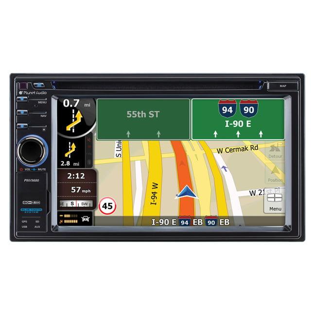 "Planet Audio Automobile Audio/video Gps Navigation System - 6.2"" - Touchscreen - Radio, Digital Player - Multimediacard [mmc], Secure Digital [sd] Card - Bluetooth - Yes (pnv9680)"