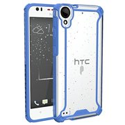 POETIC Affinity Series Premium Thin/No Bulk/Slim fit/Clear/Dual Material Protective Bumper Case for HTC Desire 530 (2016)/HTC Desire 630 (2016) Blue