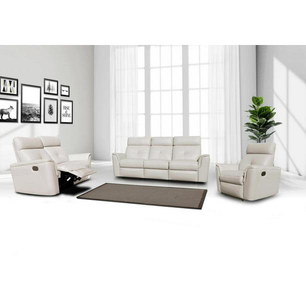 Esf 8501 Contemporary White Italian, Modern Recliner Sofa Design