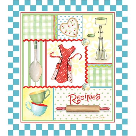 Recipe Binder Set With Plastic Page Protectors And Recipe Cards  Retro Aprons  3 Ring Hardcover Recipe Binder Is 8 X 9 Inches  Includes Handy Measurement    By Brownlow Kitchen