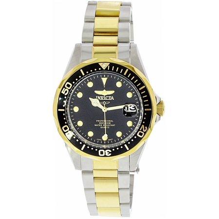 Men's 17049 Pro Diver Analog Display Japanese Quartz Two Tone Watch