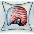Betsy Drake ZP118 Nautilus Throw Pillow, 22 x 22 inch