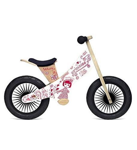 Kinderfeets Retro Wooden Balance Bike, Pretty Princess
