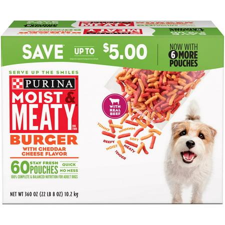 Purina Moist & Meaty Dog Food, Burger (6 oz., 60 (Best Rated Fast Food Burger)