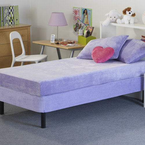 Memory Foam Kidz 8'' Kid's Memory Foam Mattress with Water Proof Cover in Lavender