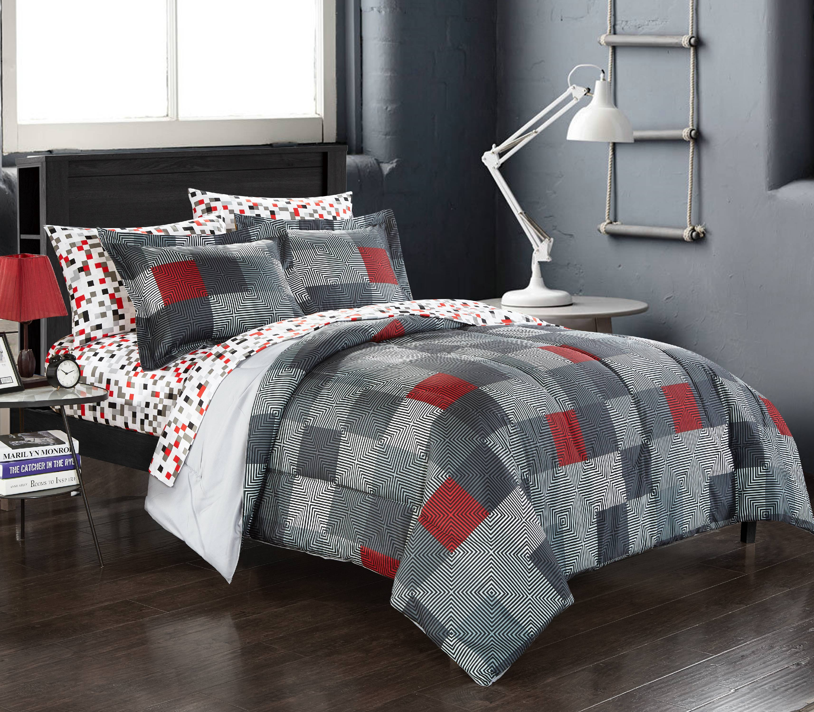 Click here to buy American Original Geo Blocks Bed in a Bag Bedding Comforter Set by Overstock.