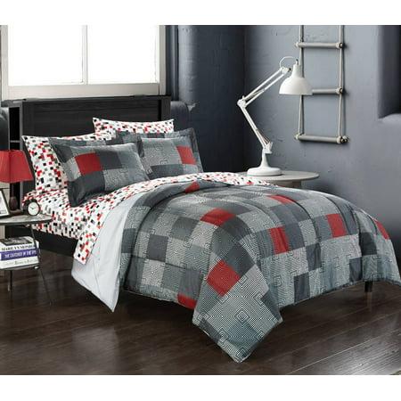 American Original Geo Blocks Bed in a Bag Bedding Comforter Set - Bead Sets