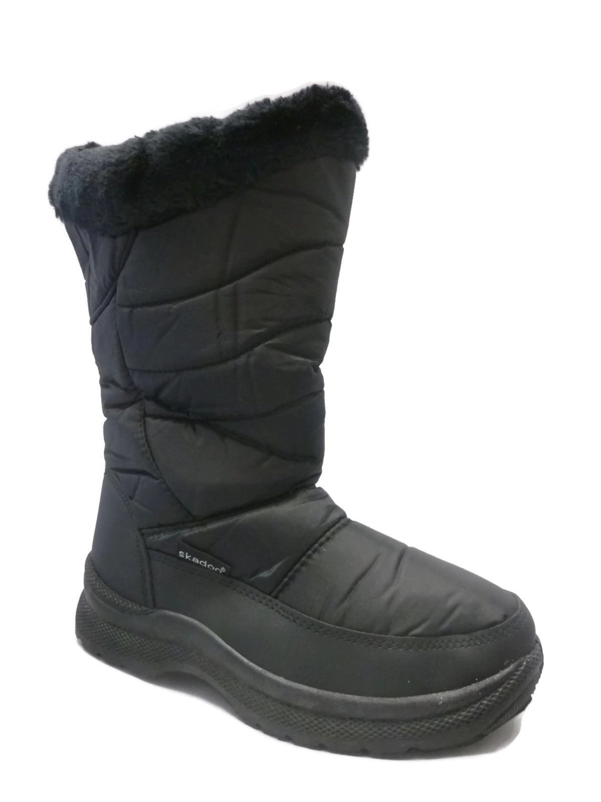Ladies Black Snow Boots- SKADOO Winter Boots Sizes 5-11 Waterproof and Stylish!
