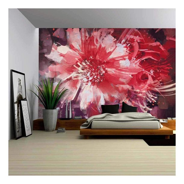 Wall26 Beautiful Autumn Flowers Old Painting Style Removable Wall Mural Self Adhesive Large Wallpaper 100x144 Inches Walmart Com Walmart Com