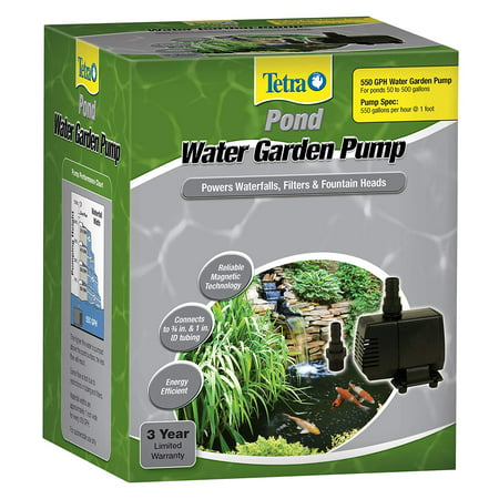 - TetraPond Water Garden Pump 550 GPH, For Small Waterfalls, Filters And Fountain Heads
