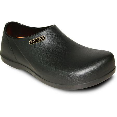 df7b354410c VANGELO - VANGELO Professional Slip Resistant Clog Unisex Work Shoe  CARLISLE Black - Walmart.com