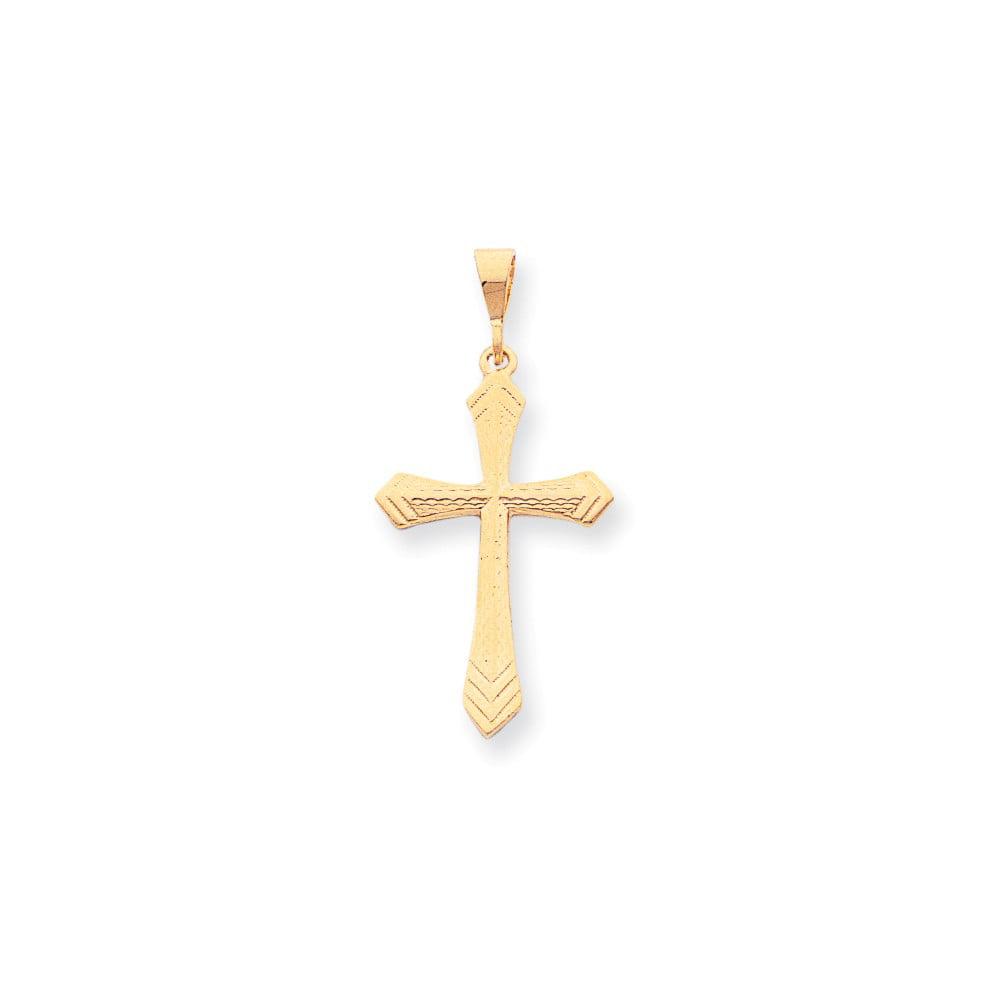10k Yellow Gold Cross Charm (1.6in long x 0.8in wide)