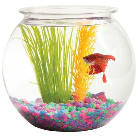 Hawkeye 1 gallon bubble shaped fish bowl 8 diameter x 7 for Bubbles in fish bowl