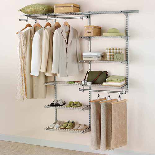 Rubbermaid Configurations Closet Kits, 3'-6', Deluxe, Titanium
