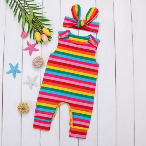 Rainbow Yoga Music Notes Birds Baby Boys Girls Jumpsuit Romper Bodysuit