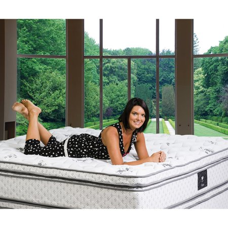 Euro Top Mattress - Wolf Tranquility Euro Top Wrapped Coil with Visco Foam Mattress