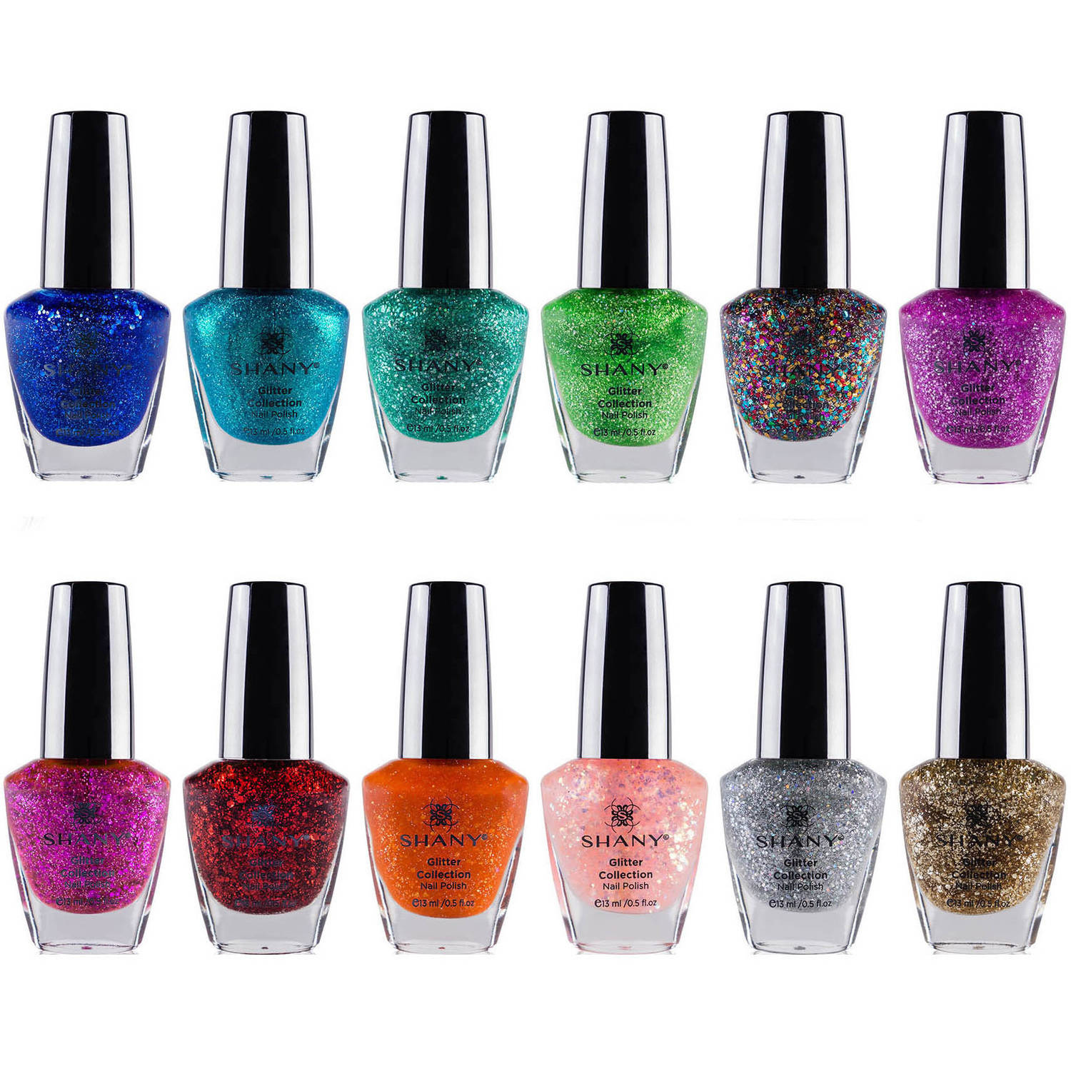 SHANY Glitter Collection Nail Polish Set, 12 count