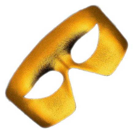 Masquerade Gold Non-Light Up Metallic Mask Mardi Gras](Metallic Mask)