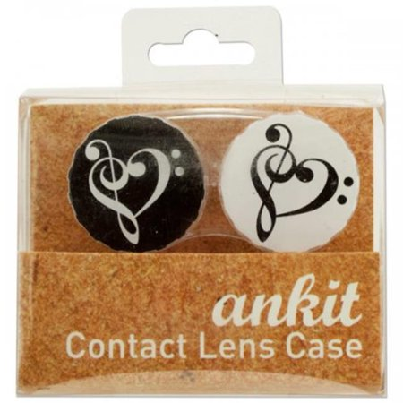 Bulk Buys KL20601 Heart Treble Print Contact Lens Case for $<!---->
