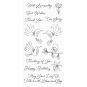 """My Favorite Things Clear Stamps 4""""X8""""-Happy Hummingbirds"""