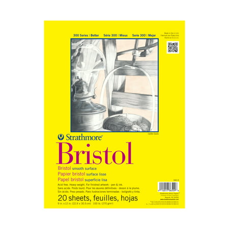 - Strathmore Bristol Paper Pad, 300 Series, Smooth, 11