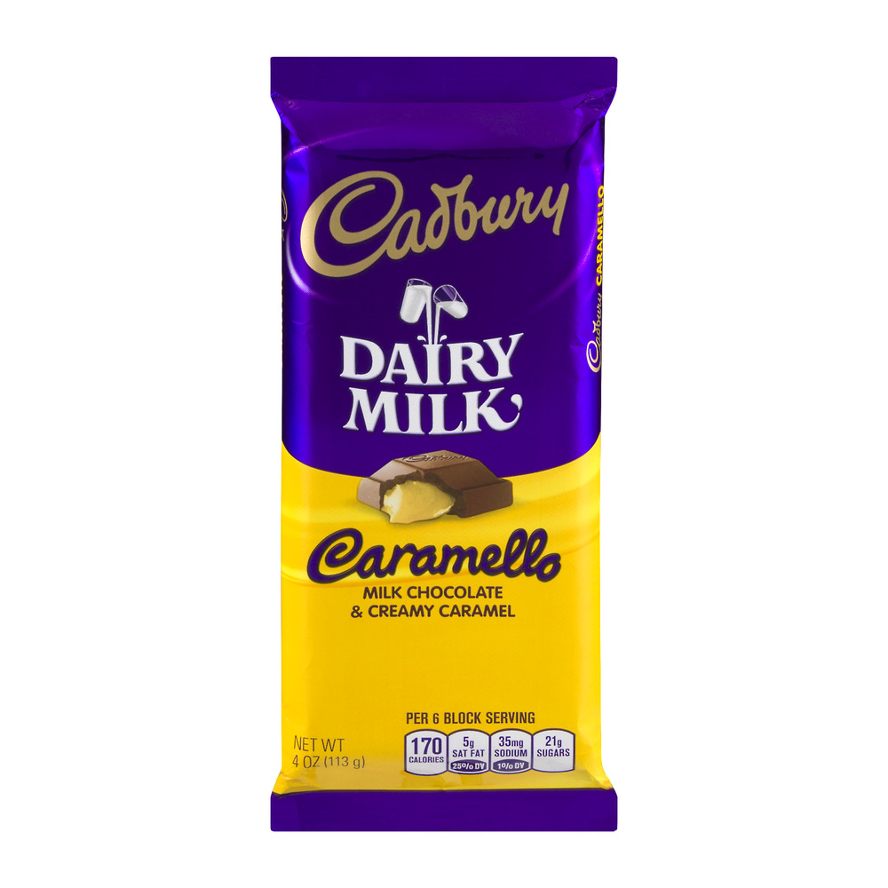 CADBURY CARAMELLO Bar, 4 Ounces, 4.0 OZ