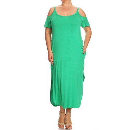 Women's PLUS  trendy style, solid jersey knit -