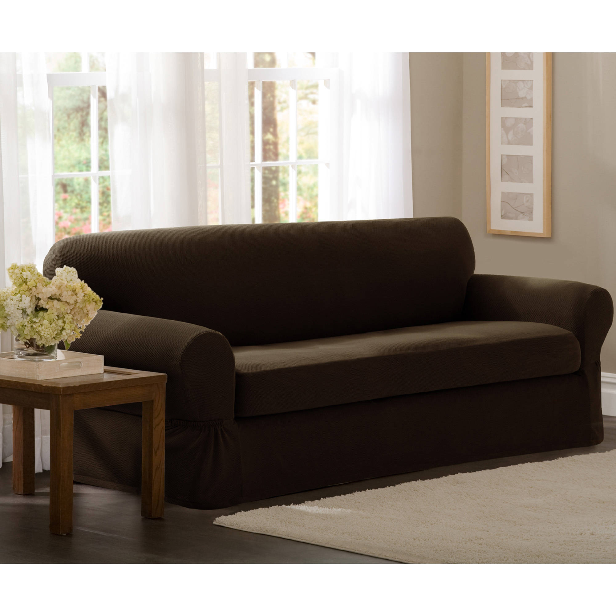 Maytex Stretch Pixel 2 Piece Loveseat Slipcover Walmart