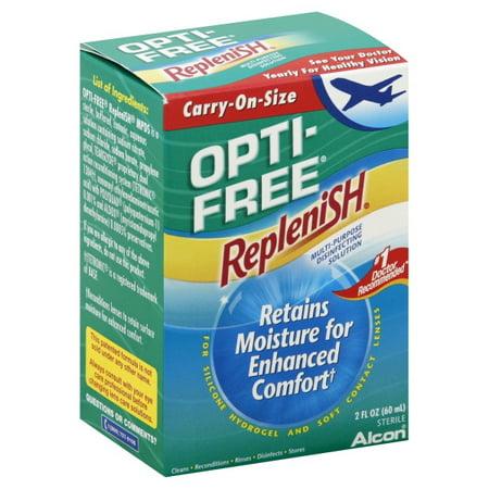 Opti-Free RepleniSH Multi Purpose Disinfecting Solution-2 oz (60 ml), Carry On (Opti Free Replenish)