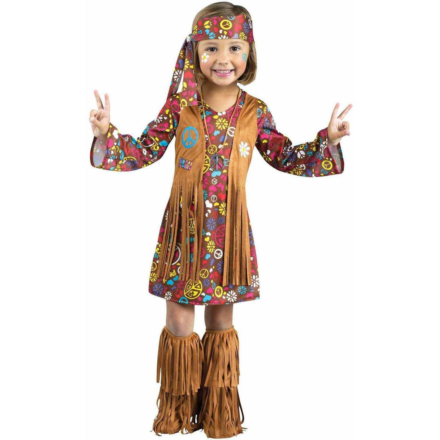 peace and love hippie toddler halloween costume - walmart