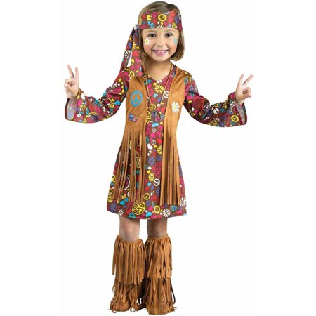 Peace and Love Hippie Toddler Halloween Costume - Halloween Disneyland Hk