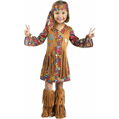 Peace and Love Hippie Toddler Halloween Costume - Last Minute Hippie Halloween Costume