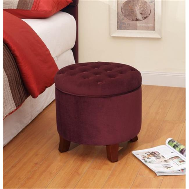 Kinfine K6171-B119 Large Round Storage Ottoman by