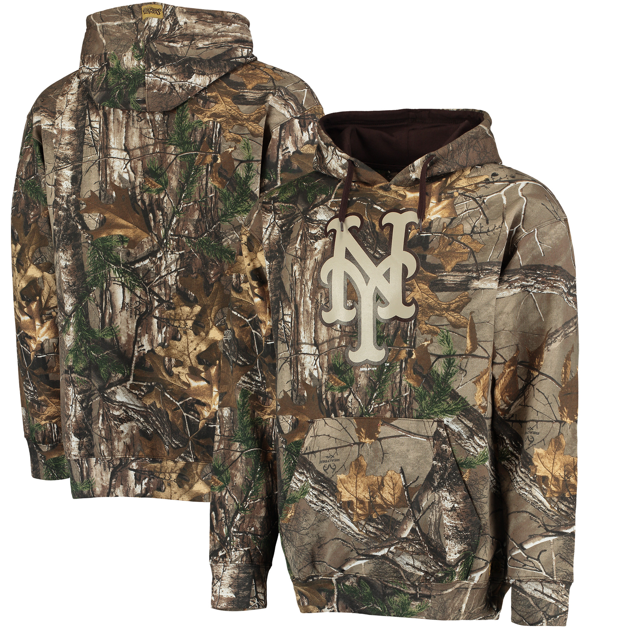 New York Mets Stitches Fleece Pullover Hoodie - Realtree Camo