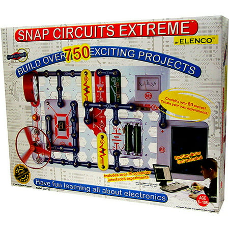 Snap Circuits Xtreme - Science Experiments Kit SC-750 (Snap Electronics Kit)