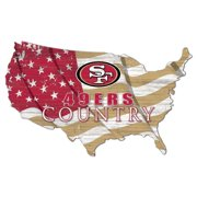 San Francisco 49ers USA Flag Cutout Sign