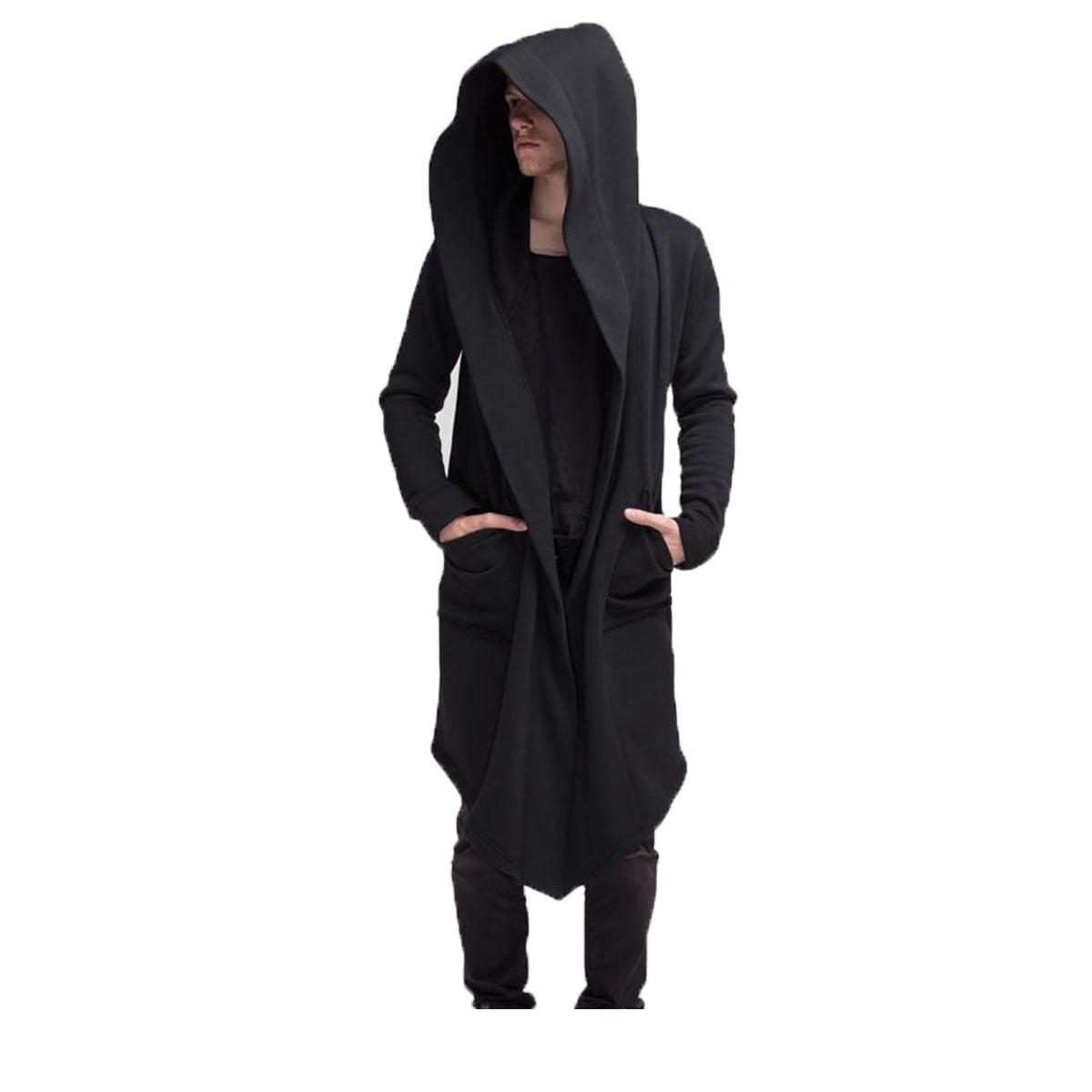 Men/'s Hooded Hoodies Zip Up Long Coat Jacket Sweatshirt Outwear Cardigan Tops