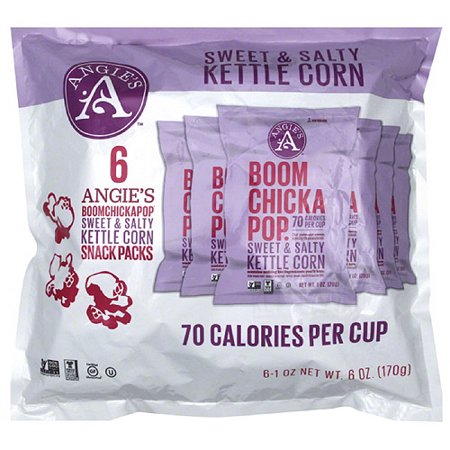 Angies Boom Chicka Pop Sweet   Salty Kettle Corn  1 Oz  6 Count  Pack Of 4