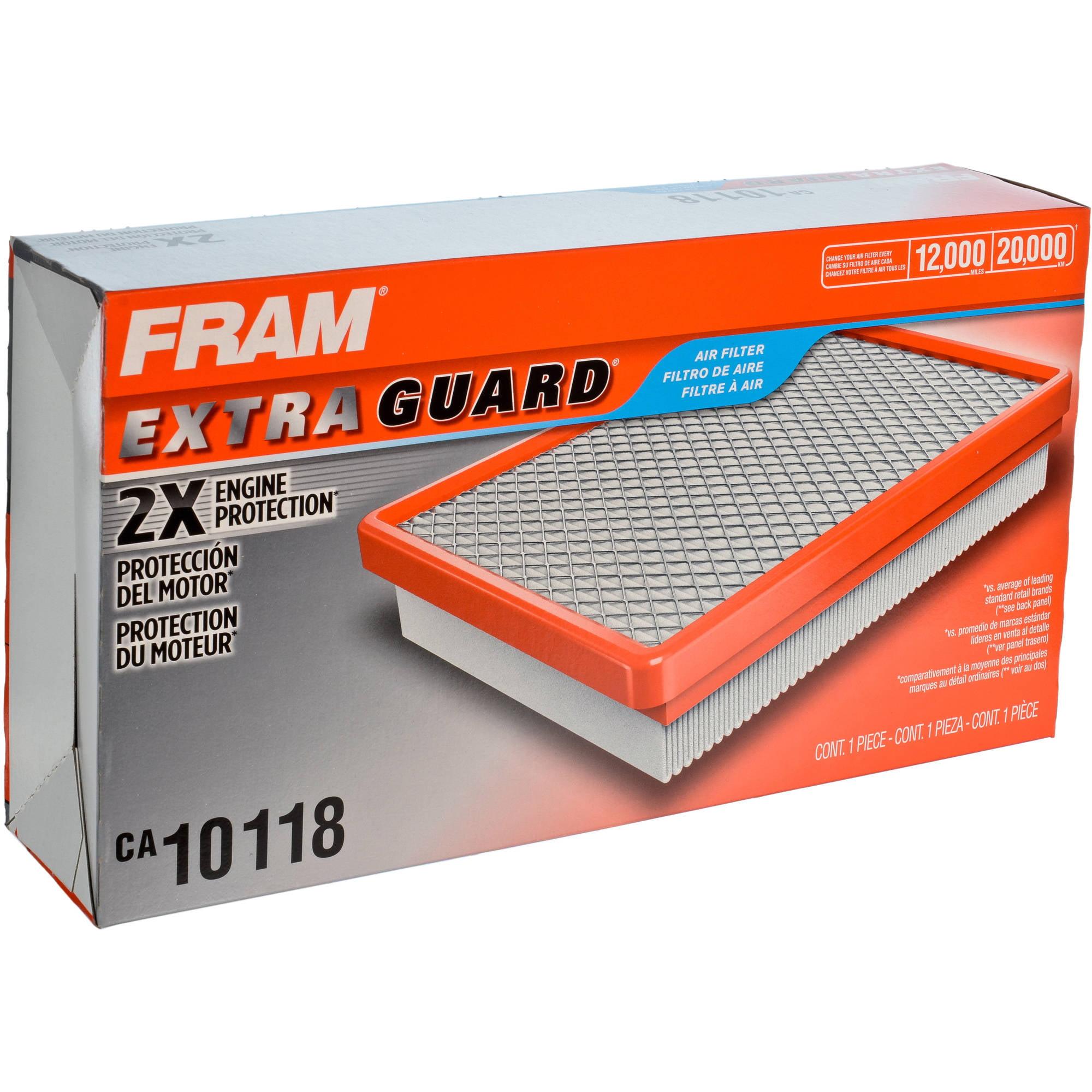 FRAM Extra Guard Air Filter, CA10118 by FRAM