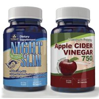 Totally Products Apple Cider Vinegar High Potency & Night Slim-Night Time Weight Loss Pack
