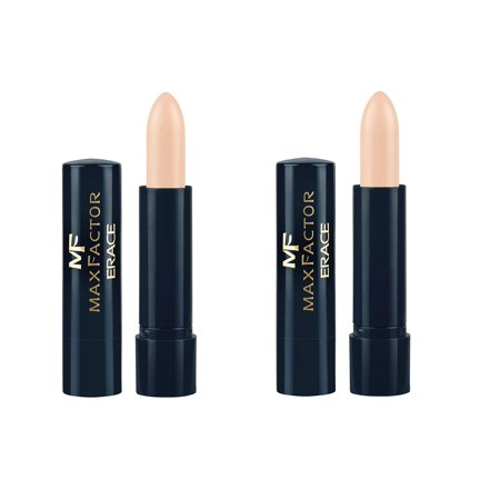 Max Factor Erace Cover up Concealer Stick Fair 02 (2 Pack) + Schick Slim Twin ST for Dry