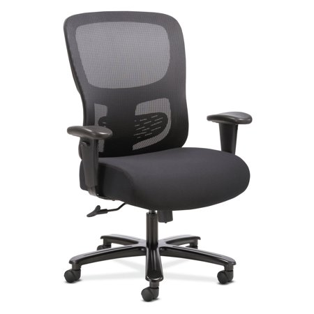 Sadie Big and Tall Office Computer Chair, Height Adjustable Arms with Adjustable Lumbar, Black