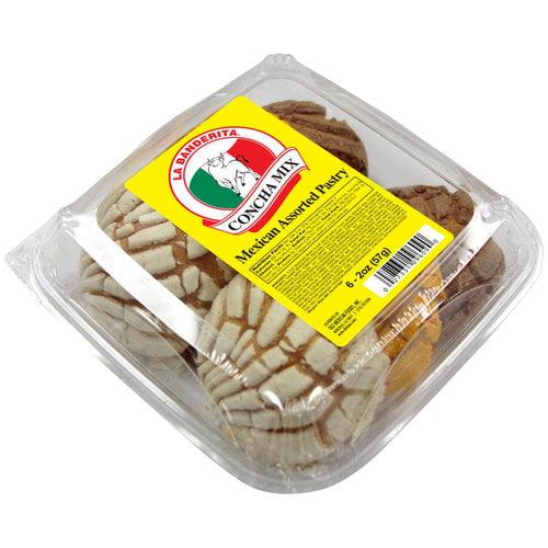 La Banderita Concha Mix Mexican Assorted Pastry, 2oz, 6ct