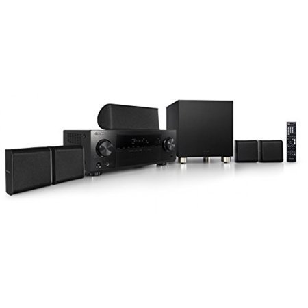 Pioneer HTP-074 5.1 Channel Home Theater Package, Black 4K System Audio Receiver