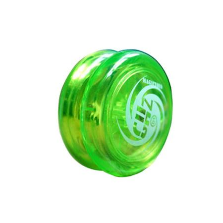 MAGICYOYO D1-GHZ Loop Yoyo Ball for Beginner Poly Carbonate Plastic Loop Yoyo - Fluorescent Green (Yoyo Ball)