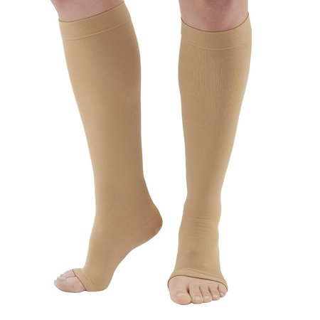 Ames Walker AW Style 322 Anti-Embolism 18 mmHg Compression Open Toe Knee High Stockings  XL - Non-ambulatory patients - Reduce possibility of pulmonary embolism - Replacement for Kendall Teds