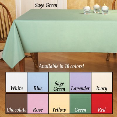(Basic Rectangular Tablecloth Table Linens, Rose, 60