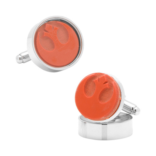 Men's Cufflinks Inc Rebel Symbol Rubber Stamp Cufflinks