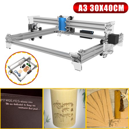 EleksMaker A3 30x40cm Desktop Mini Laser Engraver Assembling Kit Engraving  Logo Marking Cutting Machine Printer
